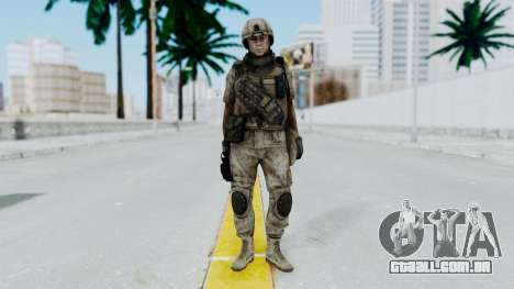 Crysis 2 US Soldier 3 Bodygroup B para GTA San Andreas segunda tela