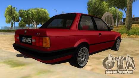 BMW M3 E30 1991 para GTA San Andreas vista direita