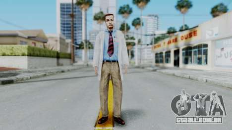 Gordon Freeman Scientist From HL Blue Shift para GTA San Andreas segunda tela