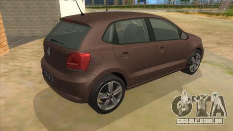 Volkswagen Polo 6R 1.4 para GTA San Andreas vista direita