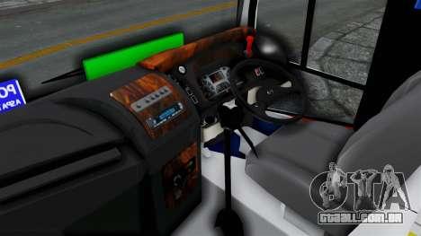 Laksana Legacy Hino AK8 Cangkuang Livery para GTA San Andreas traseira esquerda vista