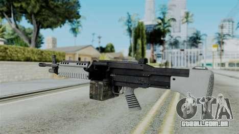 GTA 5 Combat MG - Misterix 4 Weapons para GTA San Andreas segunda tela