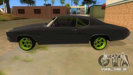 1970 Chevrolet Chevelle SS Drift Monster Energy para GTA San Andreas esquerda vista