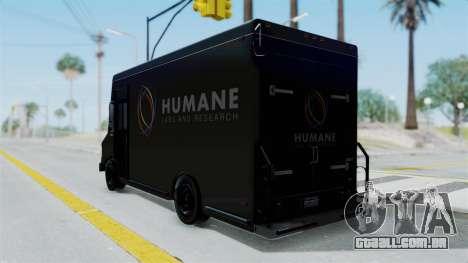 Brute Boxville Laboratorios Humane para GTA San Andreas esquerda vista