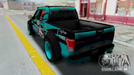 Ford F-150 2015 Drift Gym para GTA San Andreas esquerda vista