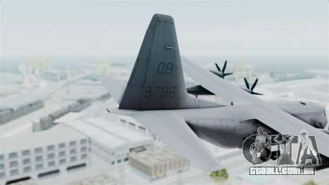 KC-130J Harvest Hawk para GTA San Andreas traseira esquerda vista