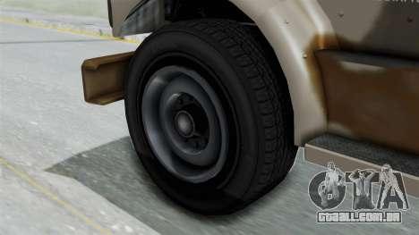 GTA 5 HVY Barracks OL IVF para GTA San Andreas traseira esquerda vista