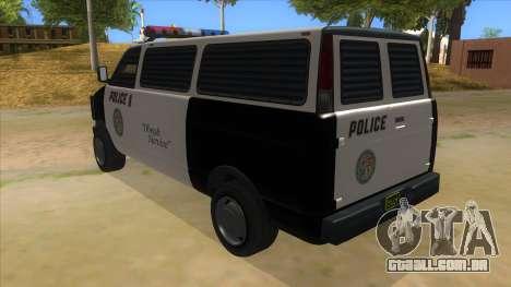 GTA 5 Burrito Transport para GTA San Andreas traseira esquerda vista