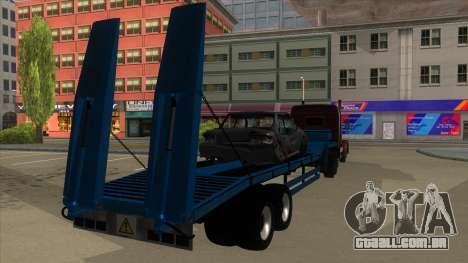 Trailer with Hydaulic Ramps para GTA San Andreas vista direita