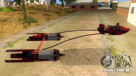 StarWars Anakin Podracer para GTA San Andreas esquerda vista