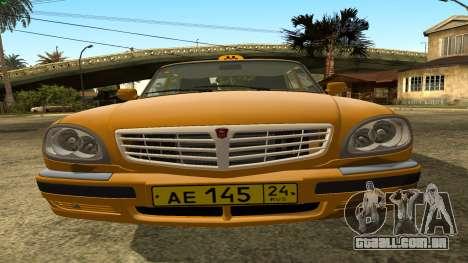 GAZ 31105 Volga Táxi FIV para GTA San Andreas vista interior