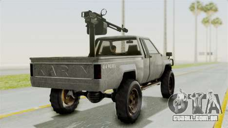 GTA 5 Karin Technical Machinegun para GTA San Andreas esquerda vista
