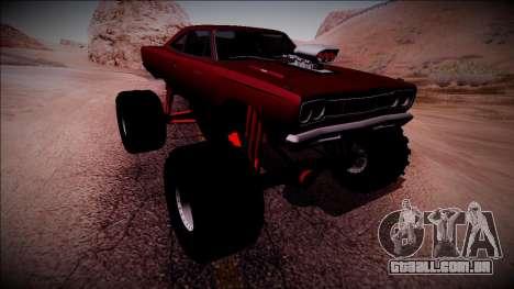 1969 Plymouth Road Runner Monster Truck para GTA San Andreas vista inferior