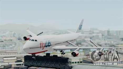 GTA 5 Jumbo Jet v1.0 FlyUS para GTA San Andreas traseira esquerda vista