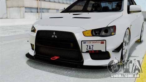 Mitsubishi Lancer Evolution X GSR Full Tunable para GTA San Andreas vista superior