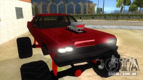 1974 Dodge Monaco Monster Truck para GTA San Andreas vista traseira