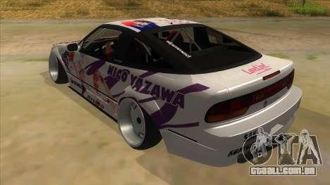 Nissan 240SX Stance Nico Yazawa Itasha Livery para GTA San Andreas traseira esquerda vista