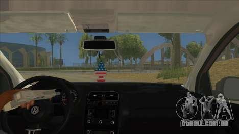 Volkswagen Polo 6R 1.4 para GTA San Andreas vista interior