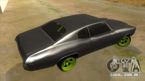 1970 Chevrolet Chevelle SS Drift Monster Energy para GTA San Andreas vista direita