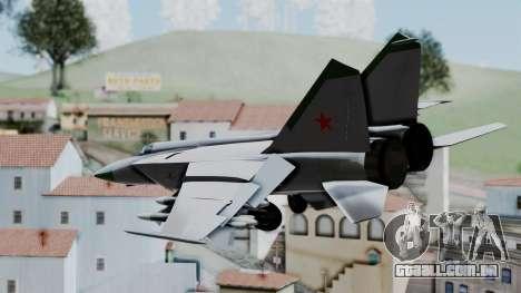 MIG-25 Foxbat para GTA San Andreas esquerda vista