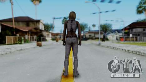 Resident Evil 4 Ultimate HD - Ashley Leather para GTA San Andreas terceira tela