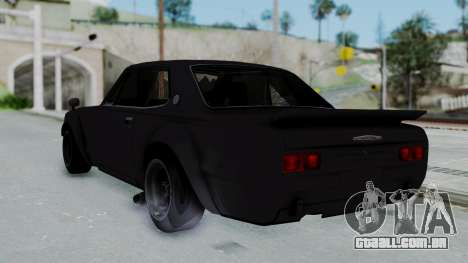 Nissan Skyline 2000GTR Speedhunters Edition para GTA San Andreas esquerda vista