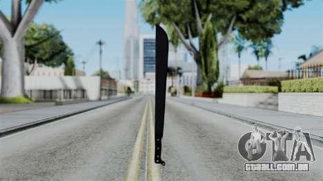 No More Room in Hell - Machete para GTA San Andreas terceira tela
