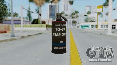 GTA 5 Tear Gas para GTA San Andreas terceira tela