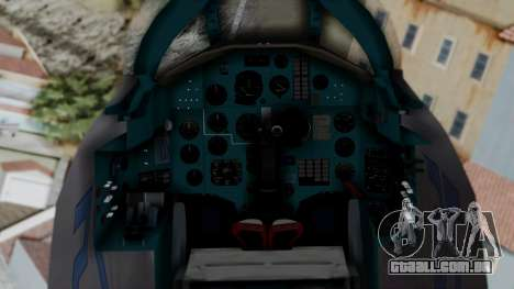 MIG-25 Foxbat para GTA San Andreas vista direita