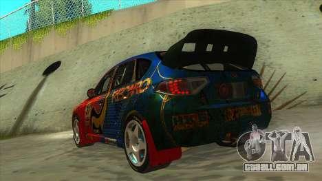 Subaru Impreza WRX STi 2011 ,,Response,, para GTA San Andreas traseira esquerda vista