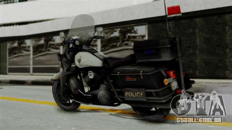 Police Bike from RE ORC para GTA San Andreas esquerda vista