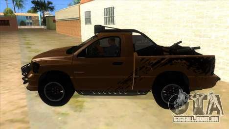 Dodge Ram SRT DES 2012 para GTA San Andreas esquerda vista