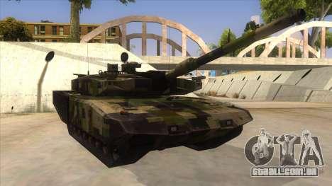 MBT52 Kuma para GTA San Andreas vista traseira