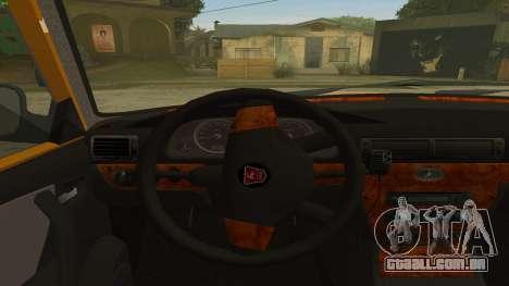 GAZ 31105 Volga Táxi FIV para GTA San Andreas vista traseira