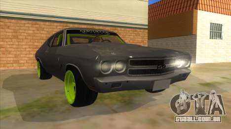 1970 Chevrolet Chevelle SS Drift Monster Energy para GTA San Andreas vista traseira
