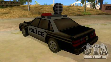 Police Car from Manhunt 2 para GTA San Andreas traseira esquerda vista
