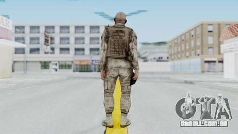 Crysis 2 US Soldier FaceB Bodygroup A para GTA San Andreas terceira tela