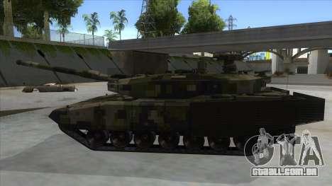 MBT52 Kuma para GTA San Andreas esquerda vista