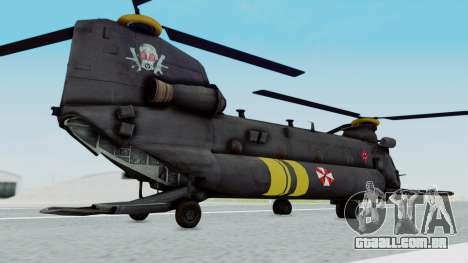 MH-47 Umbrella U.S.S para GTA San Andreas esquerda vista
