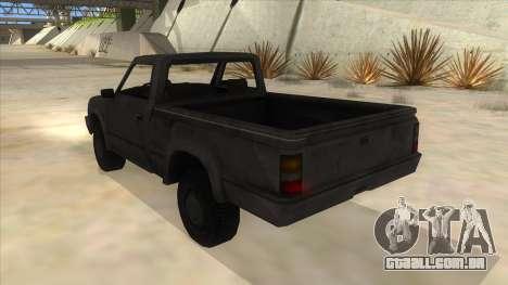 Toyota Hilux Militia para GTA San Andreas traseira esquerda vista