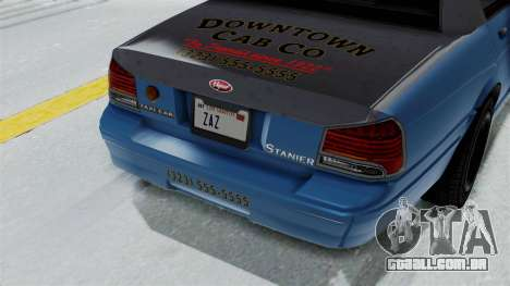 GTA 5 Vapid Stanier II Taxi IVF para GTA San Andreas vista traseira