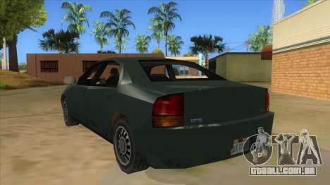 GTA LCS KURUMA para GTA San Andreas traseira esquerda vista