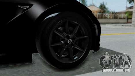 Mazda MX-5 Miata 2016 para GTA San Andreas traseira esquerda vista