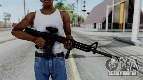 No More Room in Hell - M16A4 ACOG para GTA San Andreas