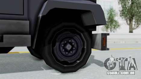 Indonesian Police BRIMOB Enforcer para GTA San Andreas traseira esquerda vista