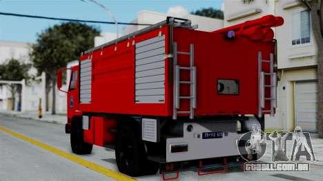 FAP Serbian Fire Truck para GTA San Andreas esquerda vista
