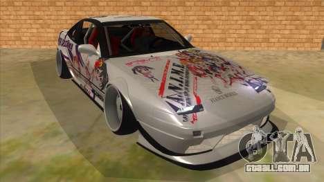 Nissan 240SX Stance Nico Yazawa Itasha Livery para GTA San Andreas vista traseira