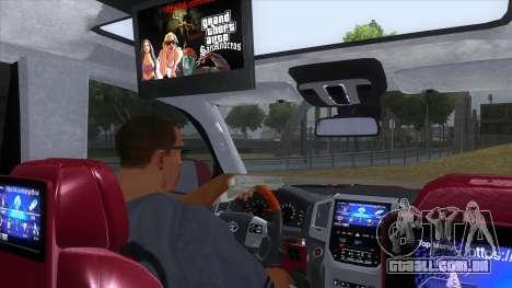 2016 Toyota Land Cruiser 200 V2 para GTA San Andreas vista interior