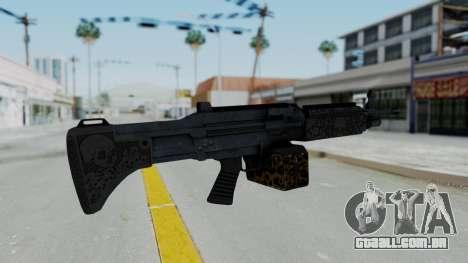 GTA 5 Online Lowriders DLC Combat MG para GTA San Andreas segunda tela