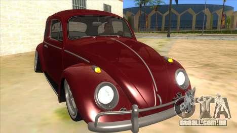 Volkswagen Beetle Aircooled V2 para GTA San Andreas vista traseira